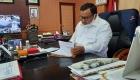 Keterangan Foto : H.M Syarfi Hutauruk Saat Menandang Tangani Sejumlah Berkas Diruang Kerja Kantor Wali Kota Sibolga